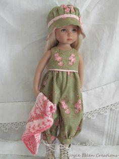 "13"" Effner Little Darling BJD Moss Pink Rompers SET Ooak Handmade SET BY JEC   eBay"