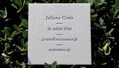 Hoban Calling Cards - Letterpress