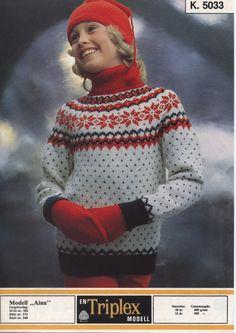 Aina 5033 Norwegian Knitting, Knitting For Kids, Knitting Patterns, Knitting Ideas, Christmas Sweaters, Knitwear, Knit Crochet, Men Sweater, Barn