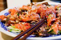 3 hungry tummies: Salmon Sashimi Salad