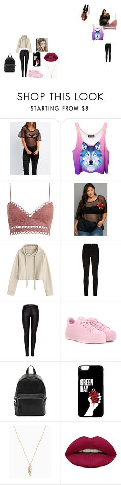 """""""Sin título #11"""" by heliana-813 on Polyvore featuring moda, Charlotte Russe, Zimmermann, Paige Denim, Kenzo, French Connection, Huda Beauty y plus size clothing"""