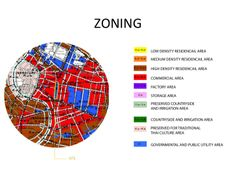 Hualampong site analysis + proposal Zoning diagram shows that the site is surrounded by the commercial area.