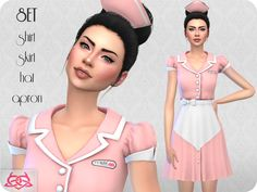 Sims 4 CC's - The Best: Waitress SETs by Colores Urbanos