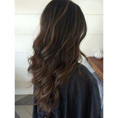 #sunkissed #brunette #highlights #babylights #sombre #ombre #dimension #beachyhair #hairinspiration #hairenvy #mermaidhair #darkhair #caramel #bronde