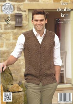 Cardigan and Waistcoat in King Cole Panache (4273)   Deramores