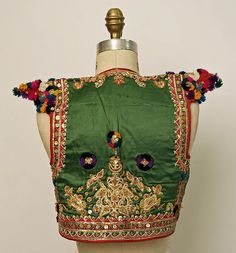 Tunisian wedding tunic, silk and cotton, sequins, ca. 20th c.