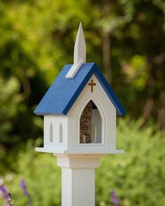 pvc birdhouse | ... bird feeder is constructed to last a lifetime classic church bird