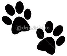 dog paw clip art black paw print silhouette dog art pinterest rh pinterest com dog foot clipart dog paws border clip art