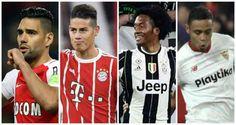 Cuatro ases de la Selección Colombia protagonistas de la jornada en Europa