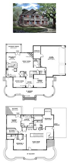 Colonial Plantation House Plan 82054