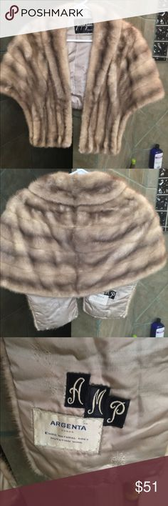 Vintage mink stole Old Hollywood vintage mink stole, so glamorous over a dress. Has pockets in front. Good Vintage condition Joseph Zable Jackets & Coats