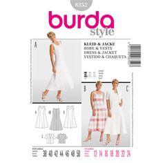 Burda 8352 Women's Dress And Jacket 12 - 24   Spotlight Australia