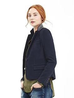 Navy Two-Button Blazer