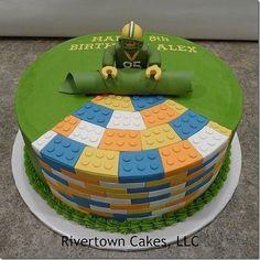 Football Lego Cake.