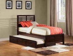 Paula II Slat Bed with Trundle