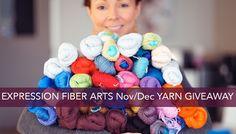 Huge yarn giveaway by expression fiber arts! Ends Dec Enter now! Loom Knitting, Knitting Patterns, Crochet Patterns, Knitting Ideas, Bone Crafts, Yarn Crafts, Crochet Afgans, Crochet Yarn, Expression Fiber Arts