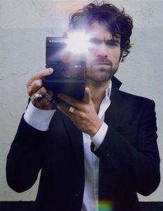 instant french  (Romain Duris with Polaroid SLR 690)