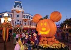 Main Street, U.S.A., in Disneyland Park During Halloween Time at Disneyland Resort