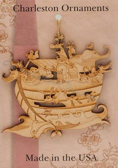 Looking for that perfect Noahs Ark ornament to complete your Christmas decor? This Noahs Ark ornament is the perfect addition. This Engraved