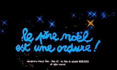 LE PÈRE NOËL EST UNE ORDURE (1982) movie title #Christmas #christmasmovies #typography #lettering