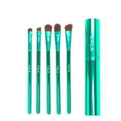 5 Piece -Eye Makeup Brush Set -Turqoise