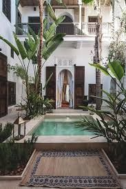 Image result for internal courtyard and pool house balinese style