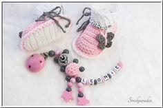 Strickparadies - Prinzessin Mäuschen - Geschenke Sparset mit Wunschnamen _079 #baby #love #christmas #xmas #birthday #newborn #handmade #strickparadies #littlebaby #schnullerkette #babyschuhe #namenschuhe #socken #schal #mütze #bommelmütze #forbaby #baby #men #woman #fashion #style #ideas #inspiration #shopping