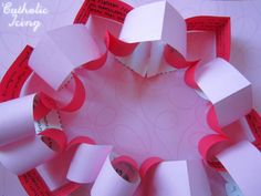Valentine's Day Countdown Chain - Each heart has a bible verse about love on it. Tear off one a day and read the verse! Such a fun idea!