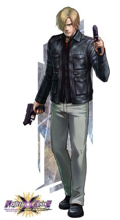 Leon Kennedy (Resident Evil) - Project X Zone 2 Brave New World