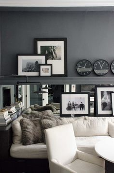 The San Francisco Victorian of Restoration Hardware's Creative Force | Design*Sponge...Between the entryway and the kitchen, a long daybed backed by a mirrored-wall and a small round dining table provides a casual dinner table or breakfast nook.