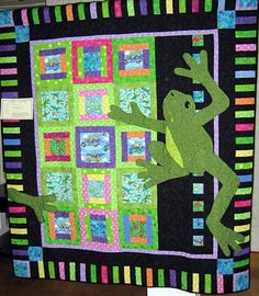 Like to try this quilt, but in Frogger form. :)