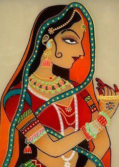 Online Shopping for the Sikh & Punjabi Community Worldwide - Indian/Pakistani Folk Punjab kaur Painting. Pichwai Paintings, African Art Paintings, Mughal Paintings, Rajasthani Painting, Rajasthani Art, Madhubani Art, Madhubani Painting, Indian Traditional Paintings, Indian Folk Art