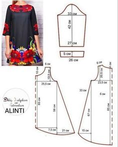Amazing Sewing Patterns Clone Your Clothes Ideas. Enchanting Sewing Patterns Clone Your Clothes Ideas. Dress Sewing Patterns, Blouse Patterns, Sewing Patterns Free, Free Sewing, Clothing Patterns, Sewing Tutorials, Embroidery Patterns, Hand Embroidery, Sewing Projects
