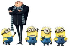 Set of 5 Despicable Me Gru and Minions Removable Wall Decal Stickers on Etsy, $21.00