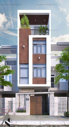 Exterior design modern shop 60 ideas for 2019 Flat House Design, Narrow House Designs, Modern Small House Design, Bungalow House Design, House Front Design, Modern Shop, Facade Design, Exterior Design, Architecture Design