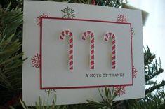 Candy Cane Thanks by papierbleu - Cards and Paper Crafts at Splitcoaststampers