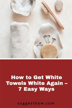 Say bye to dingy towels with these DIY fixes to keep your towels at its whitest. It is a fact that any white laundry gets dirty easily and is difficult to maintain. When your fluffy white towels begin to have stains, specks, graying and discoloring, you'll be wondering how to get white towels white again. #householdtips #cleaning #naturally Deep Cleaning Tips, Cleaning Walls, Distilled White Vinegar, White Towels, Clean House, Laundry, Stains, Hacks, Diy