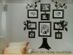 """Shop for family tree photo frame at Bed Bath & Beyond. Buy top selling products like WallVerbs™ """"Family"""" Tree Set in Black and WallVerbs™ """"Family"""" Tree Set in Black. Family Tree Picture Frames, Family Tree With Pictures, Family Tree Photo, Family Tree Wall, Photo Tree, Picture Wall, Picture Collages, Family Photos, Diy Upcycling"""