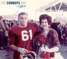 Cowboys Owner Jerry Jones and wife Gene Jones at the University of Arkansas Homecoming Game 1964 Dallas Cowboys Owner, Dallas Cowboys Signs, Dallas Cowboys Players, Arkansas Razorbacks, Football Hall Of Fame, College Football, Homecoming Games, Jerry Jones, Nfl