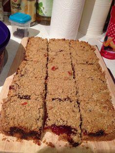 Strawberry jam oat bars