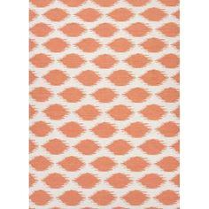 Design: Nyasha  Color: White/Paprika  Construction: Flat Weave  Style: Flat-Weave  Fiber: 100% Wool  Pile: Flat  Origin: India   Sizes 2x3, 2.6x8, 3.6x5.6 , 5x8, 8x10, 9x12