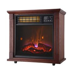 The Comfort Glow Mobile Quartz Electric Fireplace with Real Flame Technology is going to give you the warm glow and cozy heat of a vintage fireplace. Electric Fireplace Heater, Vintage Fireplace, Glow, Quartz, Home Appliances, Technology, Products, House Appliances, Tech