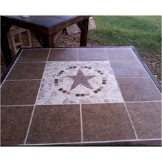 Texas star table that my mom made!!!