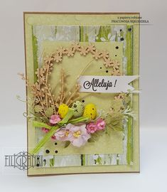 Easter Greeting Cards, Atc Cards, Card Crafts, Quilling, Handmade Cards, Cardmaking, Embellishments, Decoupage, Scrapbooking