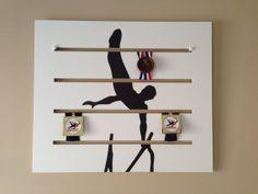 Boys Gymnastics Medals Display Parallel Bar