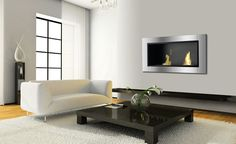 Ignis Lata - Built-in / Wall Mounted Ethanol Fireplace Without Glass
