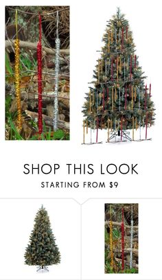 """""""Tinsel Icicle Ornaments Christmas Tree"""" by garadina on Polyvore featuring interior, interiors, interior design, home, home decor, interior decorating, Holiday Lane, Christmas, christmastree and ornaments"""