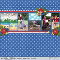 play - using Susis Roberts - Daily Life Partitions 12x12 and LJS Designs - Summer Fun: At The Park