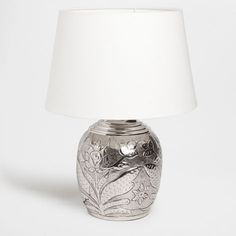 large etched mercury glass table lamp from next stuff. Black Bedroom Furniture Sets. Home Design Ideas