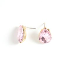The Lucille earrings are pure vintage. This delicate teardrop pair features an exquisitely cut rose crystal, shimmering and prong-set in gold. Though timeless, Lucille boasts vintage undertones which can be played up with casual and formal ensembles.